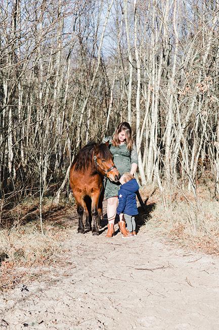 zwangerschapsshoot paard noord holland