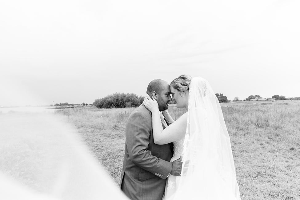 voorbeeld trouwfotografie noord-holland sluier