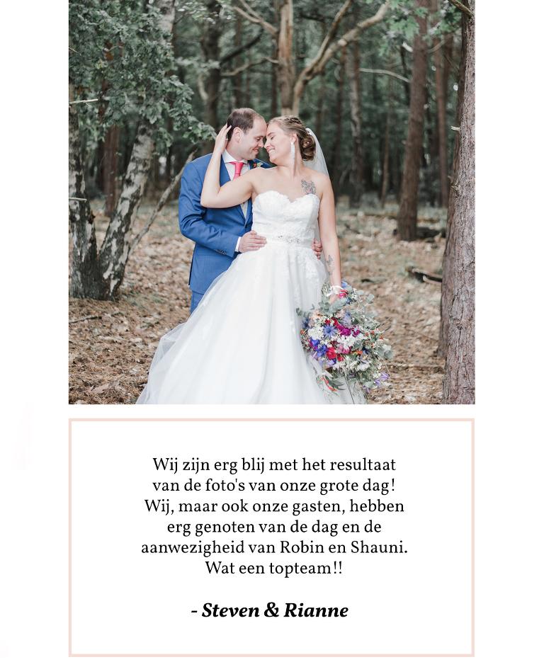 trouwfotograaf noord Holland ervaringen