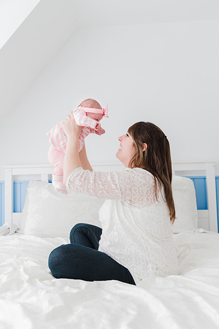 newbornfotografie mama shoot