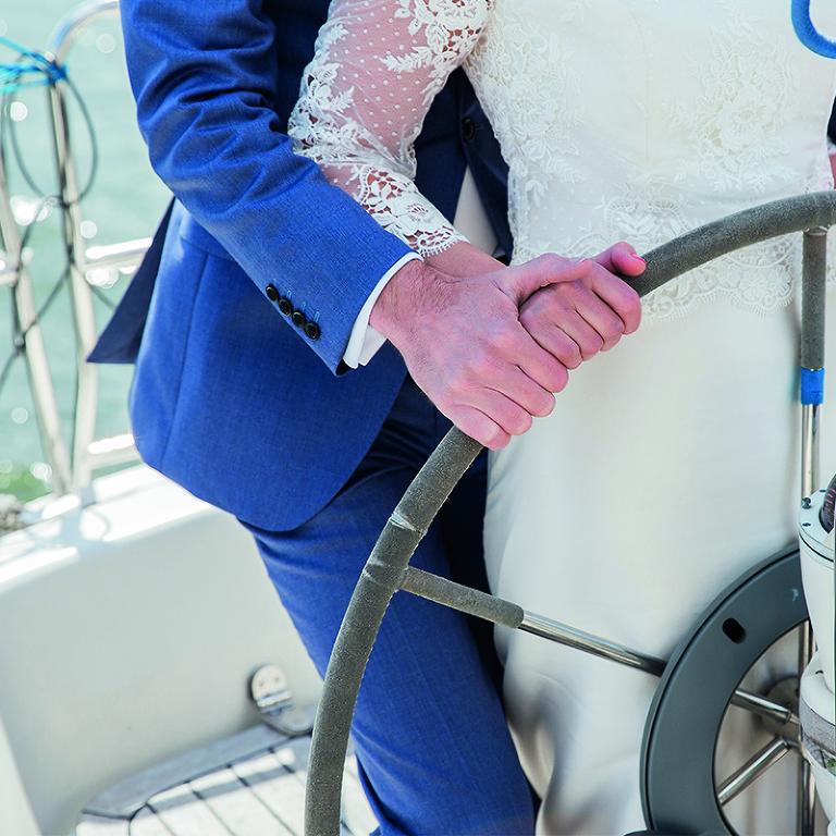 trouwfotograaf noord holland huwelijk boot